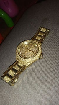 Michael Kors 18k Gold Quarts Crystal Camille Watch Happy Valley, 97015