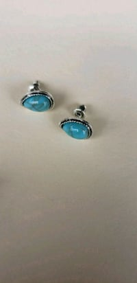 pair of silver-and-blue earrings Moreno Valley, 92553