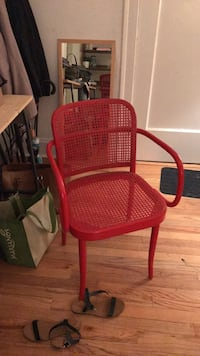 red and black metal armchair Chicago, 60657