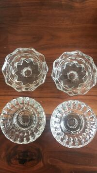 (4) crystal candle or votive holders Seminole, 33777