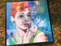 Selling Large Audrey Hepburn framed picture Mississauga, L5N 3L4