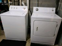 white clothes washer and dryer set 50 km