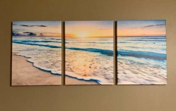 Seascape Beach at Sunset Canvas Wall Art Modern Living Room Bedroom  Home Decor  582aef70-b81c-42df-8a47-78ace623a5bc