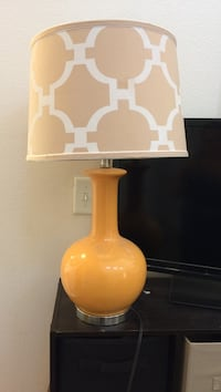 white and yellow ceramic table lamp El Paso, 79906