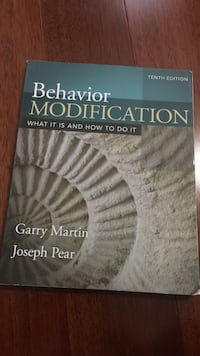 Behavior Modification by Garry Martin book