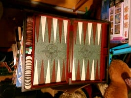 Hand carved backgammon set.
