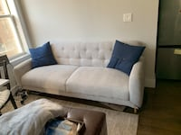 """West Elm Couch. Adjustable back. 82"""" length New York, 10011"""