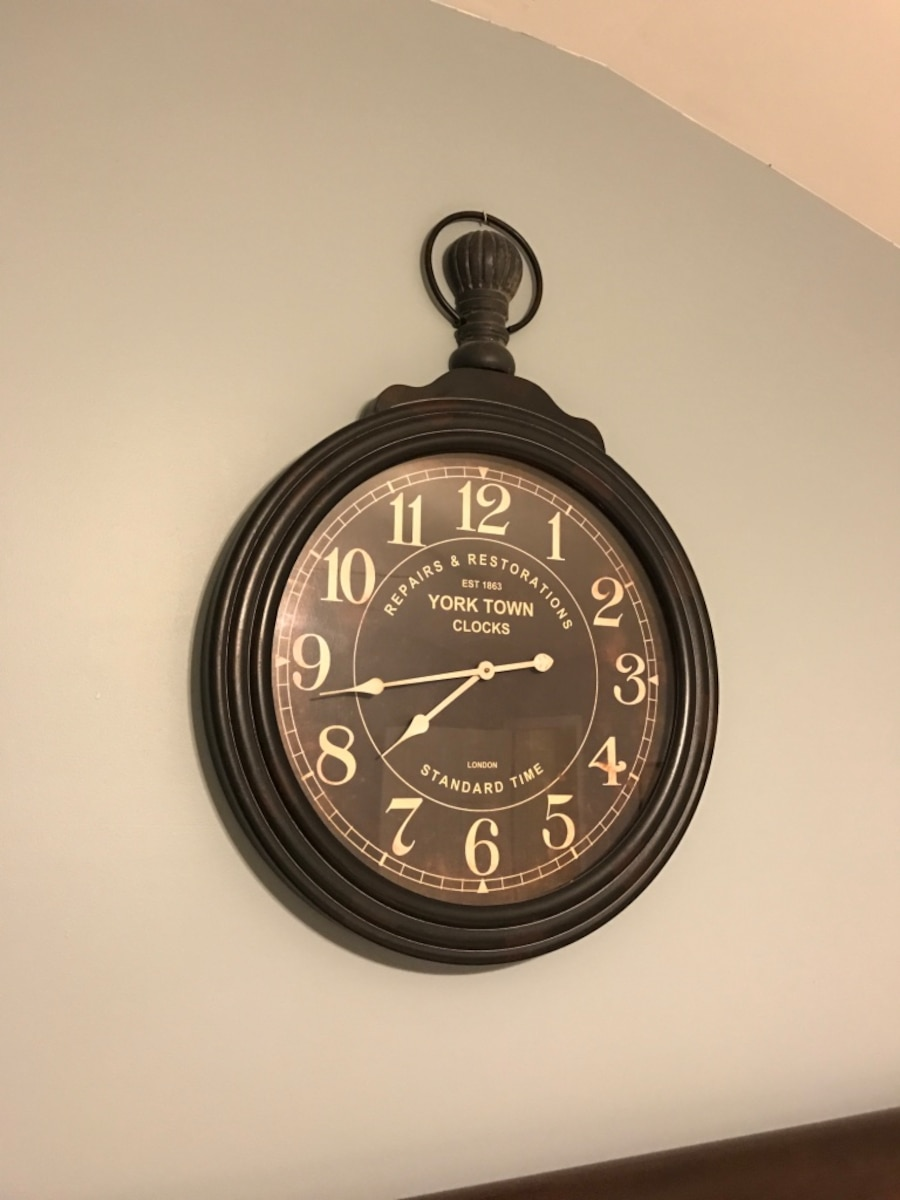 Pottery Barn 'York Town' clock - Roswell