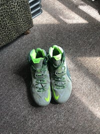 Lime green and grey Lebron James 10 soldier sneakers  Philadelphia, 19151