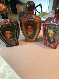 38 Empty Jim Beam collectors decanters BOWIE