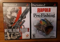 Jeux Playstation 2 Metal Gear Solid 2 & Rapala Pro Fishing PS2 games Montréal, H1Y 1Z6