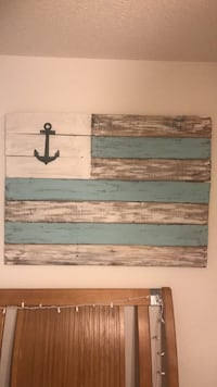white and blue wooden wall decor Wilmington, 28411