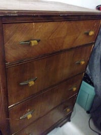brown wooden 4-drawer chest Kelowna, V1X 4A3