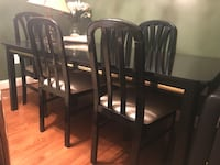 Black and gold dining room table with 6 chairs Clinton, 20735