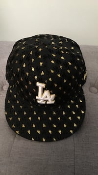 New ERA Black , Gold and white LA fitted cap Los Angeles
