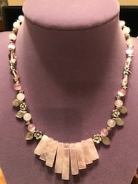 Beautiful Silver And Pink Stone Necklace Gainesville, 20155