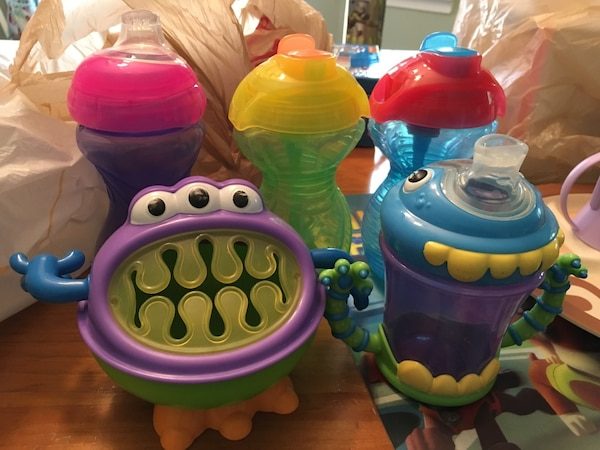 baby's assorted plastic toys