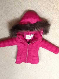 children's pink and black furred winter jacket Calgary, T2L 0N3