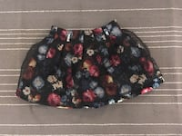 Women's black, blue and yellow floral skirt