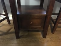 Brown Wooden Dining Table & Chairs WASHINGTON