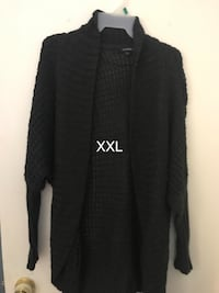 Women's black knitted open cardigan Thorold, L2V 4B8