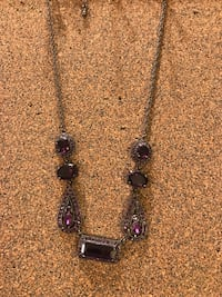 Dark purple necklace and ring Arlington, 76001