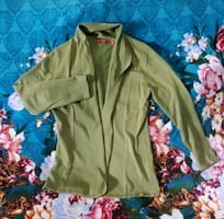 Open front Olive Green Cardigan