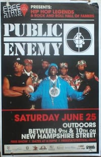 ~ PUBLIC ENEMY 2016 TOUR FLYER ~ Overland Park, KS, USA