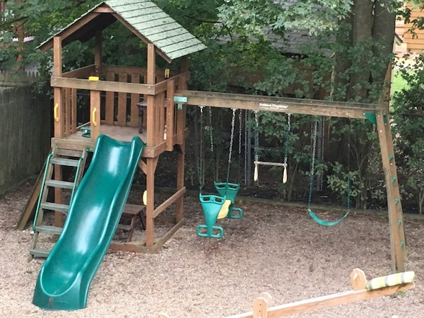 Used Creative Playthings Swing Set For Sale In Melrose Letgo