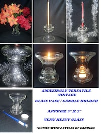 Amazingly Versatile Vintage Glass Vase/Candle Hold