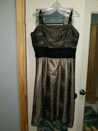 Black with Gold Dots Chiffon & Tulle Dress Mississauga, L4T 2P2