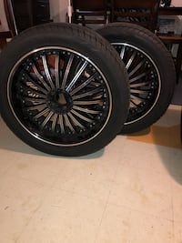 "22"" U2-029 Black Machine Rims including tires Baltimore"