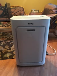 white Danby air cooler