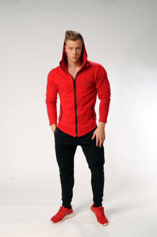 MUSCLE RANGER CAPTAIN FITNESS FULL ZIP HOODIE SWEATSHIRT  8