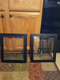 two large photo frames