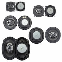 black and gray coaxial speakers MONTREAL