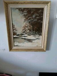 brown wooden framed painting of trees London, N6E 3P5