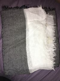 Grey and white Zara scarf  Vaughan, L4H 0P3