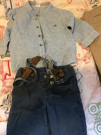 toddler's blue denim overall pants 525 km
