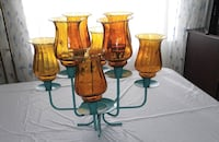 Table Candleabra with Gold Glass Votice cups