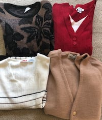 Assorted Women's Sweaters Size M and L $2 each see photos 1964 km