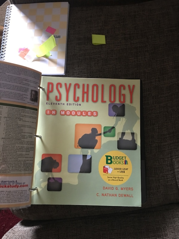 Psychology in modules.