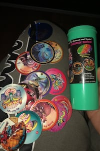 Pogs & slammer with container