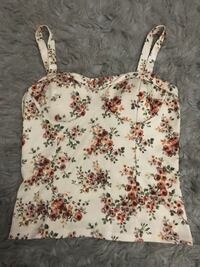 white and red floral spaghetti strap top Las Vegas, 89156