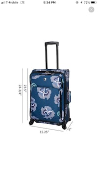 Skyline 4pc luggage set- Blue Floral 1190 mi