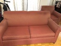 Two set sofa + portable bed in good condition