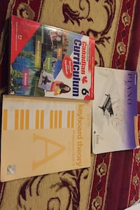 Books. $20Piano,$20keyboard Theory and $20 (6 Curriculum) for sale