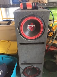 cerwin Vega  subwoofer enclosure and amps  BURLINGTON