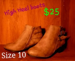 Never used High Heeled Brown Boots W10