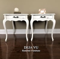 French Provincial Shabby Chic Side Tables / End Tables